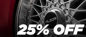 25% Off Alzor Wheel Sets