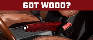 Got Wood? New MK5/MK6 Wooden Parking Brake Handle