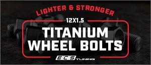 12x1.5 ECS Titanium Wheel Bolts for your BMW