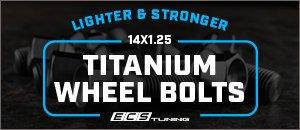 14x1.25 ECS Titanium Wheel Bolts for your BMW