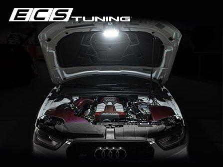 Ecs News New Ecs Audi B8 Chassis Engine Bay Lighting