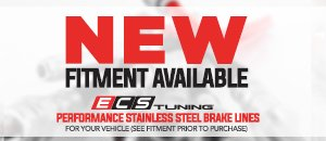 New ECS Performance Stainless Brake Lines - MK4 2.0/TDI