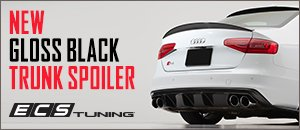 New ECS B8 A4 S-Line/S4 Gloss Black Trunk Spoiler