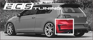 New ECS MK7 GTI Carbon Fiber Rear Bumper Flares