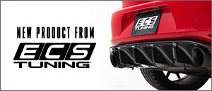 New ECS MK7 GTI Carbon Fiber Rear Diffuser