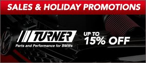 Up to 15% off Turner Motorsport for your BMW