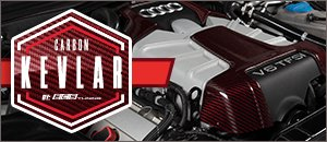 Audi 3.0T Red Carbon Kevlar Engine Covers