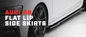 New ECS Audi B8 Flat Lip Side Skirts - Gloss Black