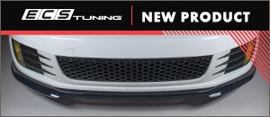 NEW ECS MK6 GTI Gloss Black and Textured Front Lip