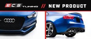 Gloss Black Front Lip & Rear Diffuser B8.5 S5 A5 S-Line