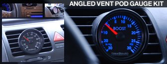 Volkswagen MKV Angled Vent Pod Gauge Kit