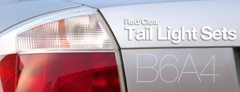 Audi B6 A4 Red/Clear Tail Light Kit