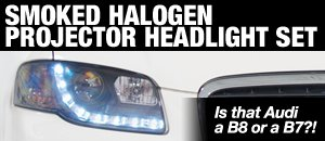 Audi B7 A4 Smoked Halogen Projector Headlight Sets