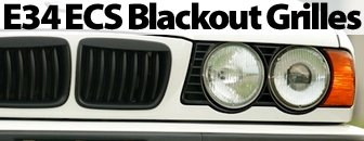 BMW E34 ECS Blackout Grille Set