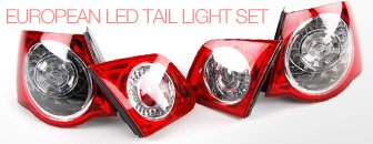 VW MKV Jetta European LED Tail Light Set