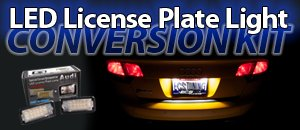 Audi Racing Dash LED License Plate Light Conversion Kit