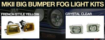 VW MKII Big Bumper Fog Light Kit