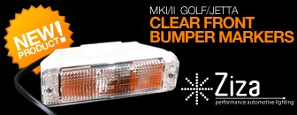 VW MKII Bumper Marker Lens - Clear