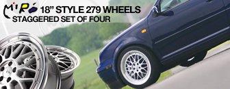 VW 5x100 Miro 18-Inch Style 279 Wheels