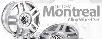 "16 Inch VW ""Montreal"" Alloy Wheel Set"