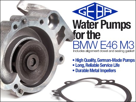 Amazing BMW E46 M3 GEBA Water Pump