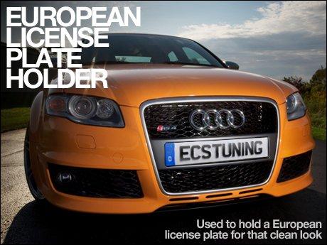 Audi B7 A4/S4/RS4 European License Plate Holder - Grey & ECS News - Audi B7 A4/S4/RS4 European License Plate Holder - Grey