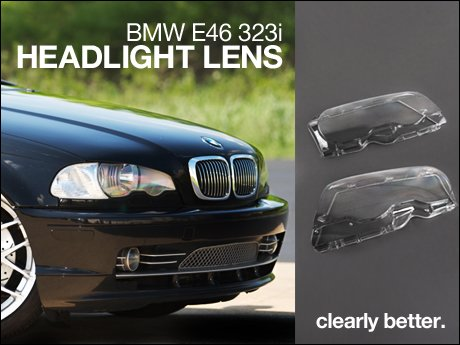 ecs news bmw e46 4 door headlight lens 323i. Black Bedroom Furniture Sets. Home Design Ideas