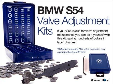 Ecs News S54 Valve Adjustment Kits