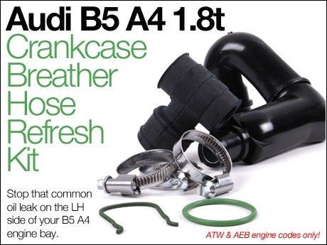 ECS News - Audi B5 A4 1 8T Crankcase Breather Hose Refresh Kit