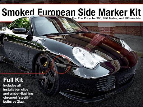 ecs news porsche 996 996 turbo 986 smoked side marker kit. Black Bedroom Furniture Sets. Home Design Ideas
