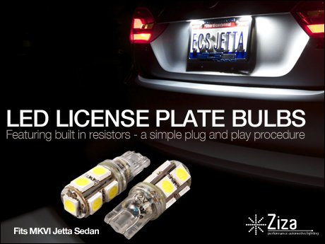 ECS News  MKVI Jetta LED License Plate Bulb Set