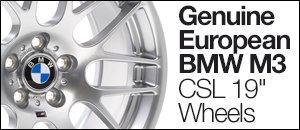 "Genuine European BMW M3 CSL 19"" Wheels"