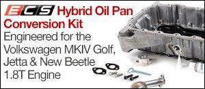 ECS Hybrid Oil Pan for VW 1.8T Engines