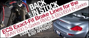 BMW 5-Series RWD & 6-Series ECS Brake Lines