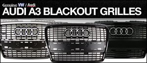 Audi A3 Blackout Grilles
