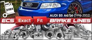 Audi B5 A4/S4 ECS Exact-Fit Brake Lines