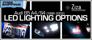 Audi B5 A4/S4 Ziza LED Lighting Options
