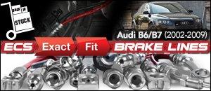 Audi B6/B7 ECS Exact-Fit Brake Lines