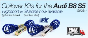 Audi B8 S5 FK Coilovers