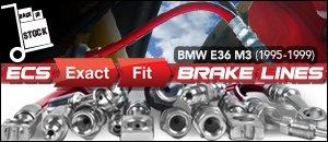 BMW E36 M3 ECS Exact-Fit Brake Lines