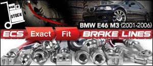 BMW E46 3-Series M3 ECS Brake Lines