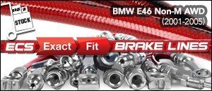 BMW E46 3-Series Non-M AWD Brake Lines