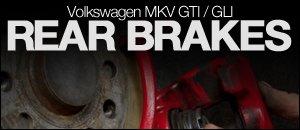 MKV Volkswagen Rear Brakes Install Video - GTI / GLI