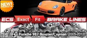 Porsche 987 Boxster/Cayman ECS Exact-Fit Brake Lines