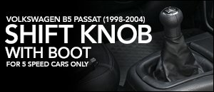 Volkswagen B5 Passat Shift Knob & Leather Boot